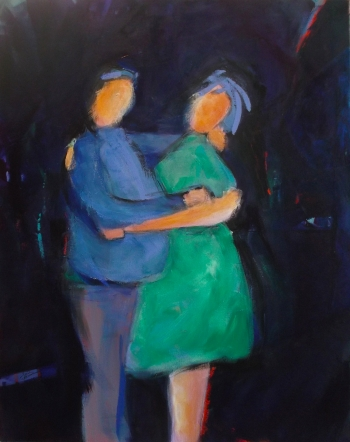 Acrylic on Canvas painting titled The hug