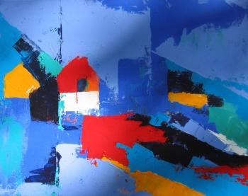 Acrylic on Canvas painting titled Oleron