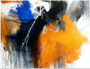 Acrylic on canvas painting titled A Splash of Sunshine