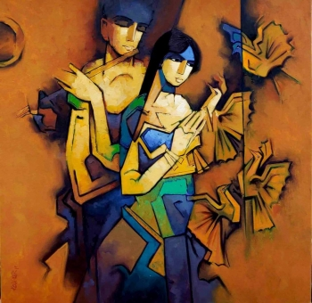 Acrylic on Canvas painting titled The Language of Love