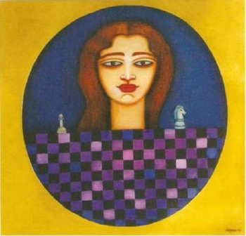 painting titled At Crossroads