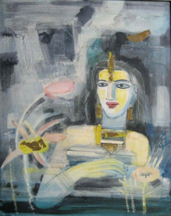 Mixed media on canvas painting titled The princess