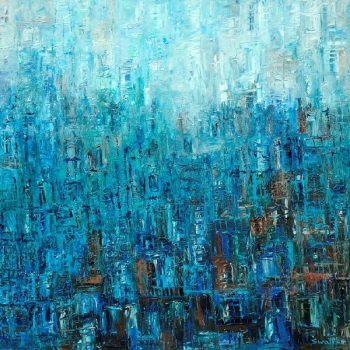 Acryllic on Canvas painting titled Deep Blue