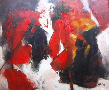 Acrylic on Canvas painting titled Abstract II