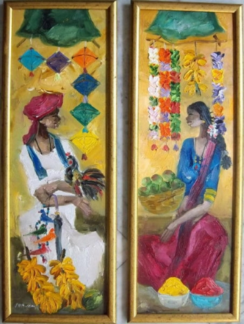oil on canvas painting titled A badami couple I