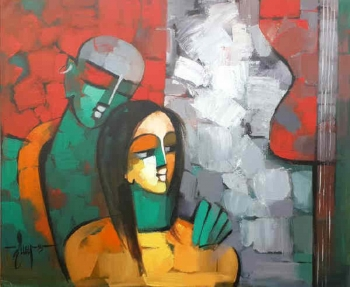 arcylic on canvas painting titled The bliss of love