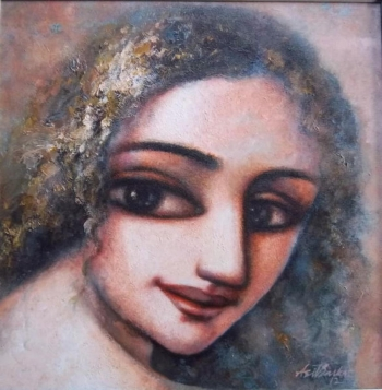 Acrylic on Canvas painting titled A Gentle Beauty