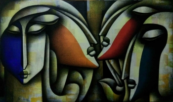 Mixed media on canvas painting titled The Glory of Harmony