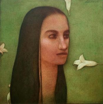 Acrylic on Canvas painting titled Untitled I