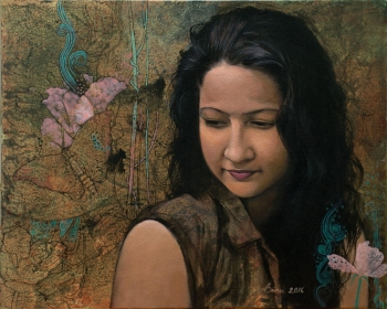 Arcylic on canvas painting titled In Harmony