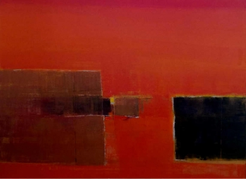 Oil on Canvas painting titled Untitled II