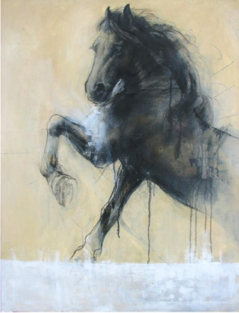 Mixed Media on canvas painting titled A Handsome Horse IV