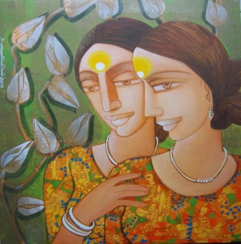 painting titled Mother & Daughter