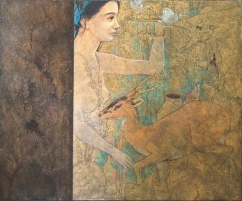 Acrylic on Canvas painting titled Harmonious Nature