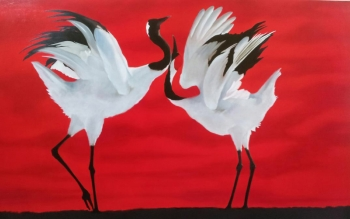Acrylic on Canvas painting titled An Eternal Love- I