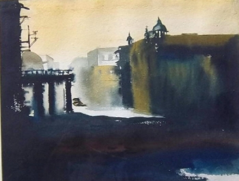 Watercolour on Paper painting titled The Old City