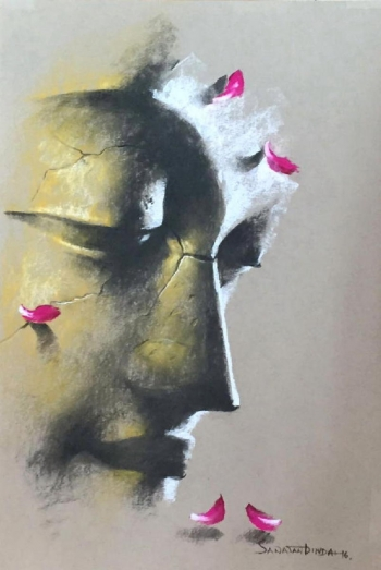 Soft Pastel on Paper painting titled A Divine Deity II