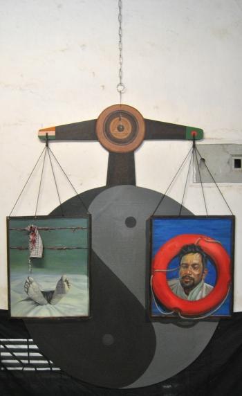 Mixed Media painting titled Untitled I