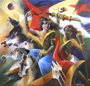 Acrylic on Canvas painting titled The Revelation
