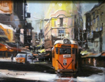 painting titled Glorious Kolkata IV