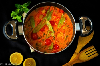 painting titled sweet potato curry