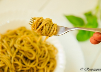 painting titled Pesto italiano