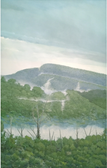painting titled Misty Mountains