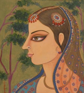 painting titled RADHIKA