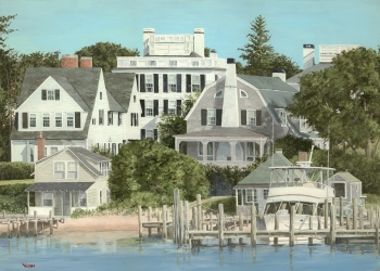 Acrylic on Illustration Board painting titled Cape Cod Summer