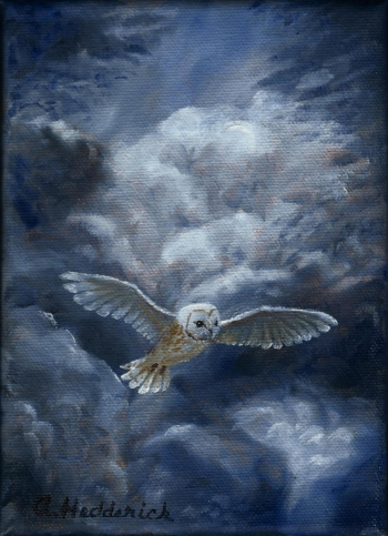 oil on canvas painting titled Owl of Heaven