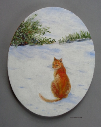 oil on canvas painting titled Fur and Ice