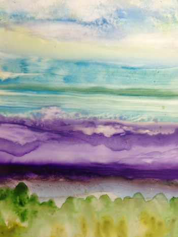 painting titled Mountains in the Distance