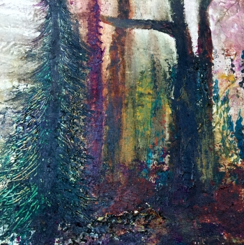 Mixed Media on Paper painting titled Take a Hike