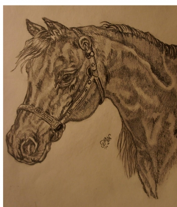Graphite / Strathmore 300 painting titled Carolina Queen