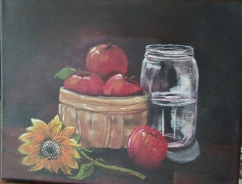 Acrylic on Canvas painting titled Fresh Harvest