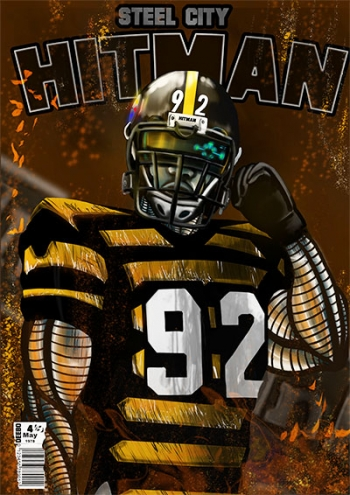 painting titled Steel City Hitman