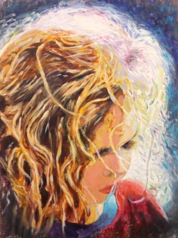 painting titled Halo