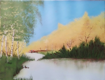 Canvas painting titled Summer