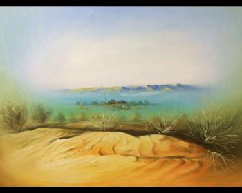 Canvas painting titled Jailau