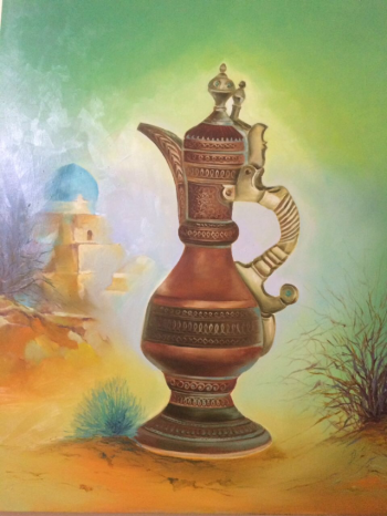 Canvas painting titled Ewer