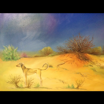 painting titled Steppe
