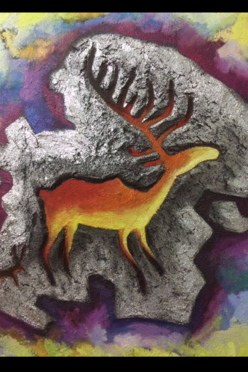 painting titled Noble Deer