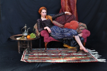 painting titled Odalisque