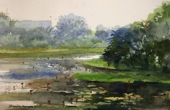 Watercolor on paper painting titled Beauty of Nature VIII