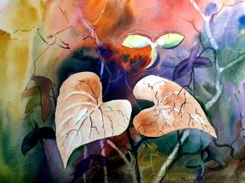 painting titled অংকুর